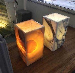 lampade onice e marmo 2