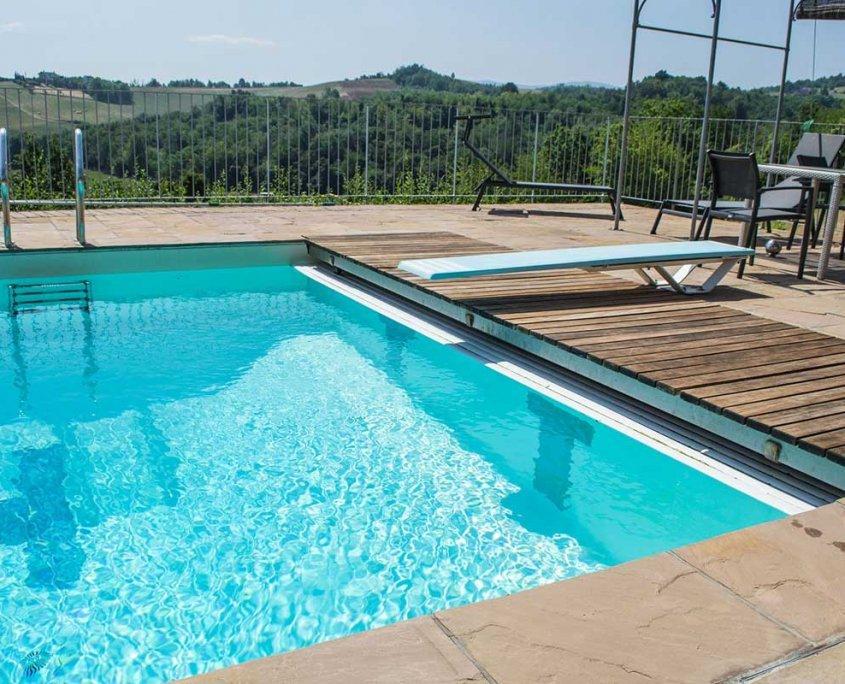 pavimentazione piscina in quarzite Gaja Gold - trampolino