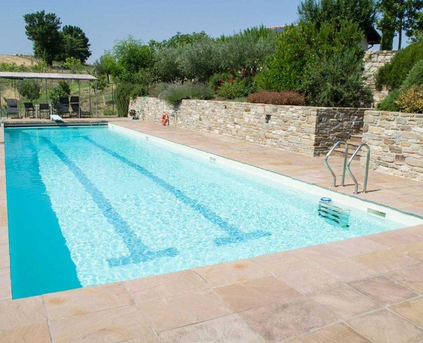 pavimentazione piscina in quarzite Gaja Gold - veduta